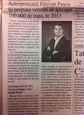 travel communication romania in Bursa newspaper