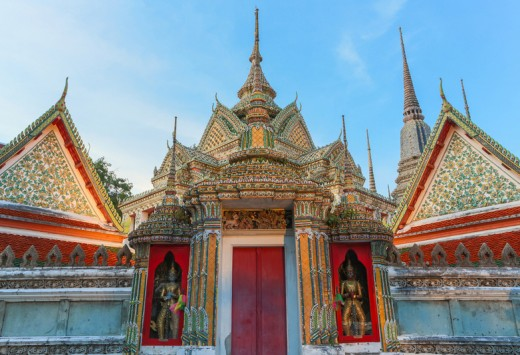 Famous giants infront of Wat Pho gate , Wat Pho , Bangkok, Copyright WichitS