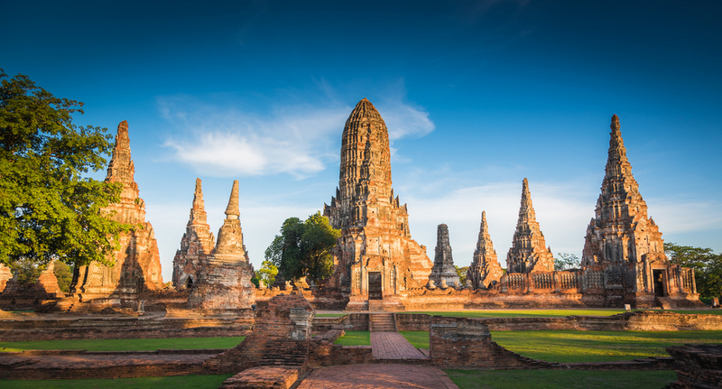 Landscape Ayutthaya Historical Park in Ayutthaya. The famous temple of the equivalent human Thailand, Copyright KP Photograph