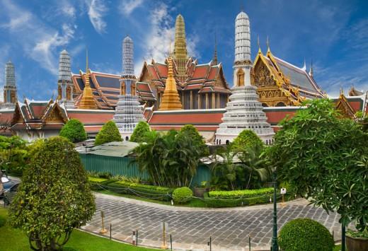 Wat Phra Kaeo, Temple of the Emerald Buddha Bangkok, Asia Thailand, Copyright YURY TARANIK