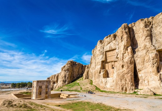 Ancient tombs of Achaemenid kings at Naqsh-e Rustam