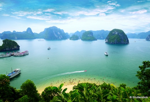 Halong Bay from titop island, Vietnam