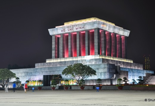 Night view of the Ho Chi Minh Mausoleum