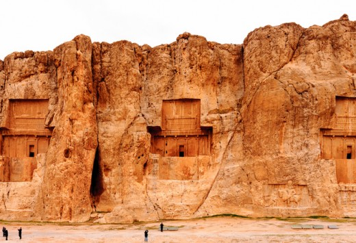 Panorama of the Naqsh-e Rustam, an ancient necropolis in Pars Province