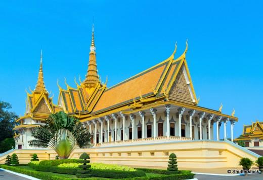 Royal Palace exterior in Phnom Penh