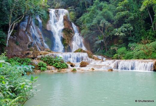 The Kuang Si Falls