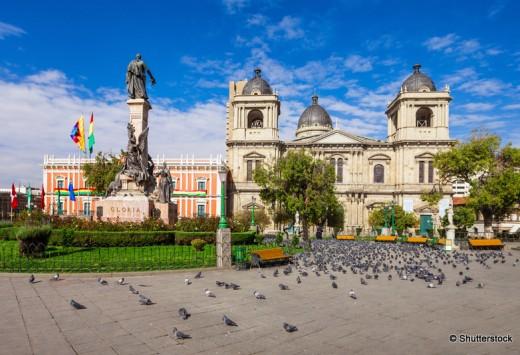 Metropolitan Cathedral is located on Plaza Murillo Square in La Paz, Bolivia