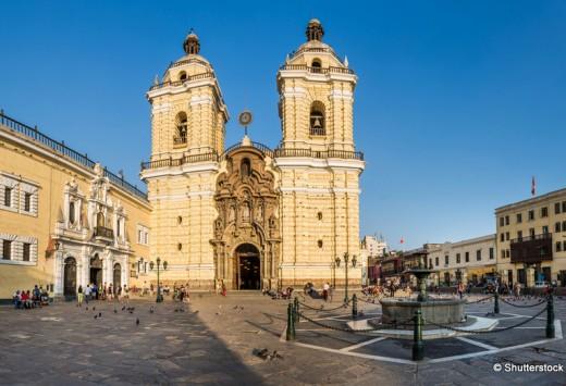 Panoramic view of San San francisco church, in Lima, Peru