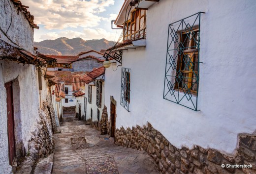 View of San Blas town streets.
