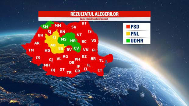 harta psd alegeri 2016