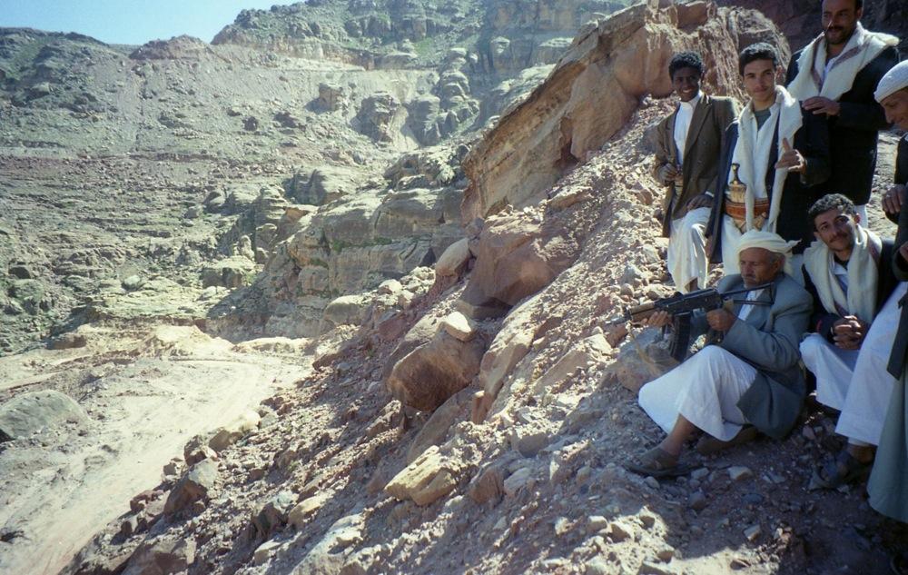 Capetenie de clan dovedindu-si indemanarea YEMEN
